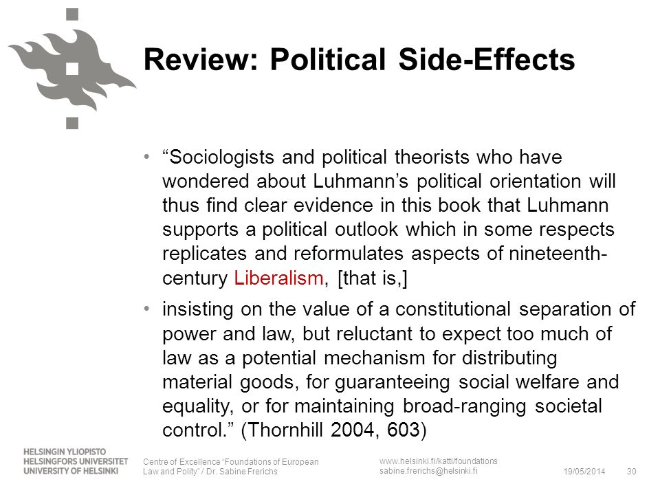Review: Political Side-Effects