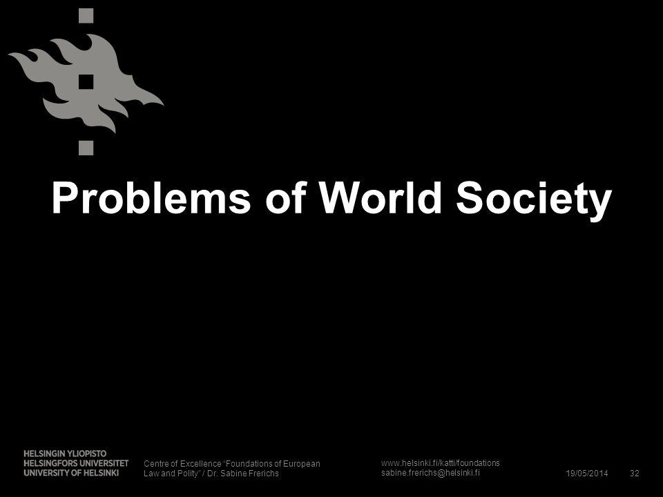 Problems of World Society