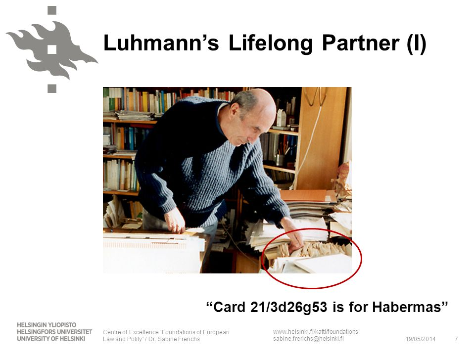 Card 21/3d26g53 is for Habermas