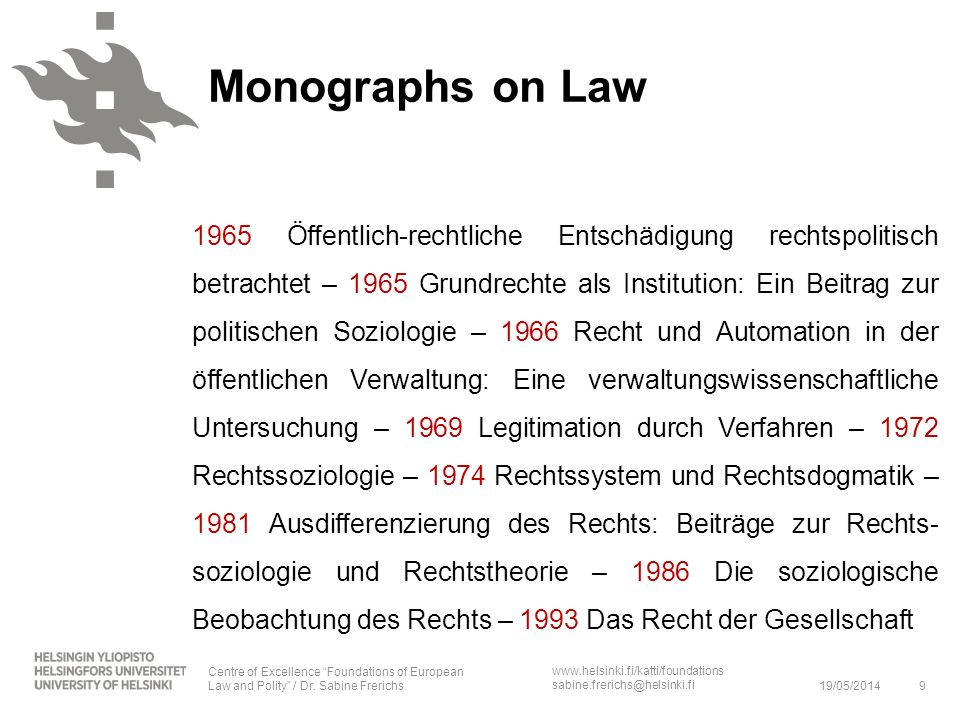 Monographs on Law