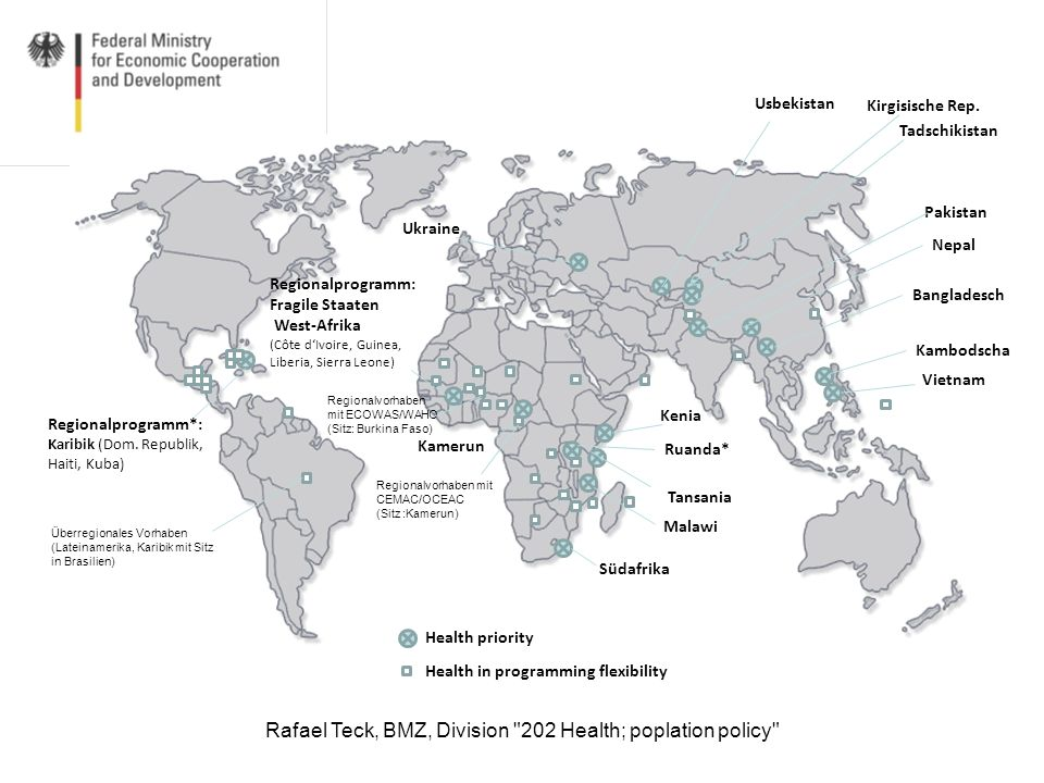 Rafael Teck, BMZ, Division 202 Health; poplation policy