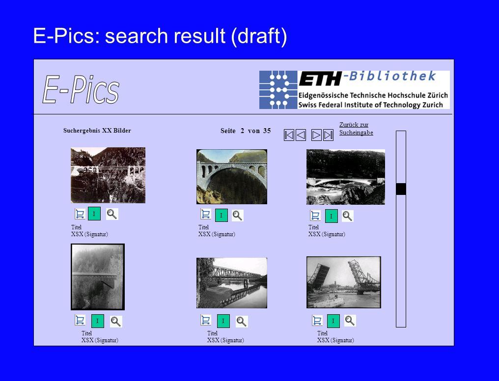 E-Pics: search result (draft)