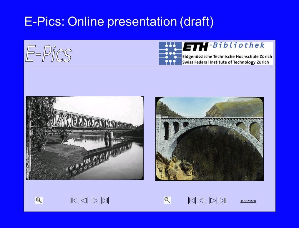E-Pics: Online presentation (draft)