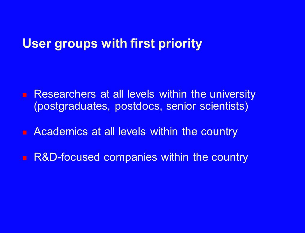 User groups with first priority