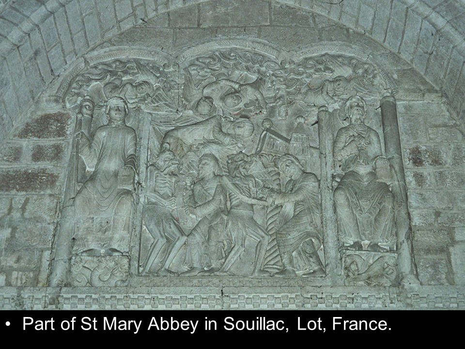 Part of St Mary Abbey in Souillac, Lot, France.