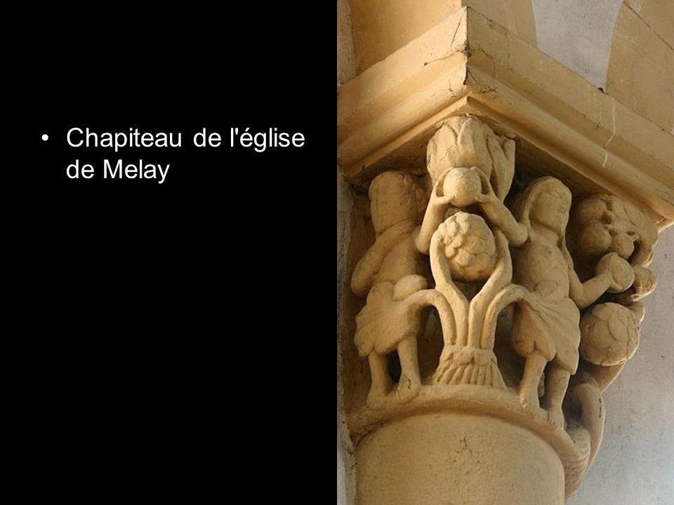 Chapiteau de l église de Melay