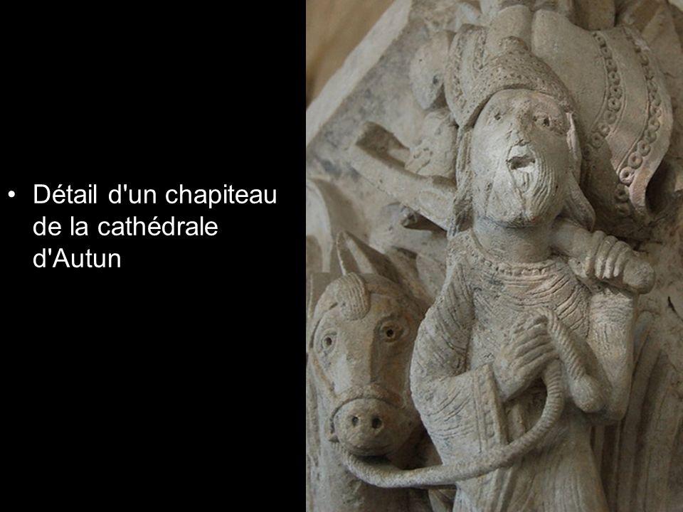 Détail d un chapiteau de la cathédrale d Autun