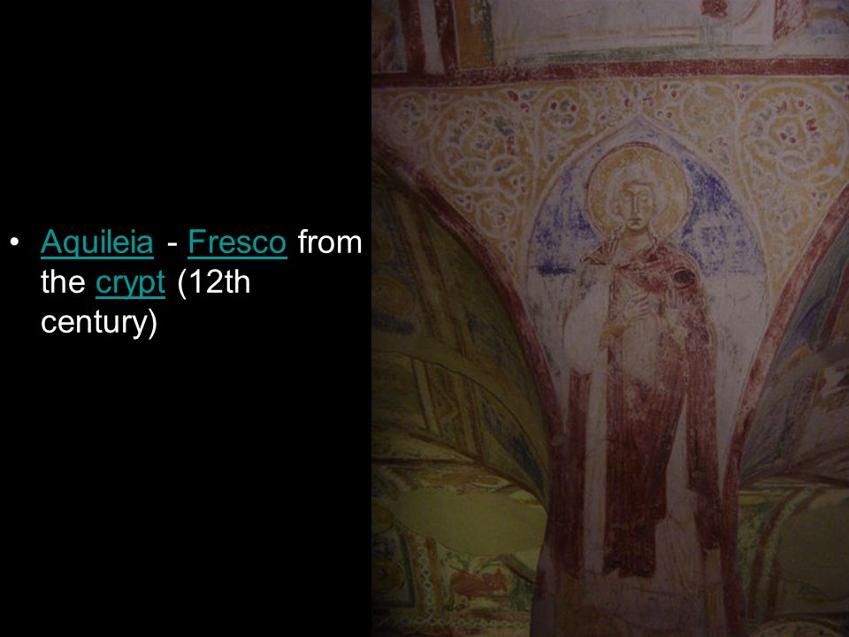 Aquileia - Fresco from the crypt (12th century)