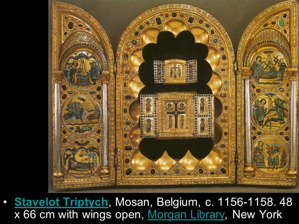 Stavelot Triptych, Mosan, Belgium, c. 1156-1158