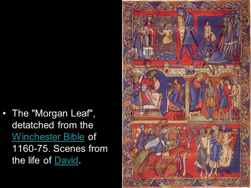 The Morgan Leaf , detatched from the Winchester Bible of 1160-75