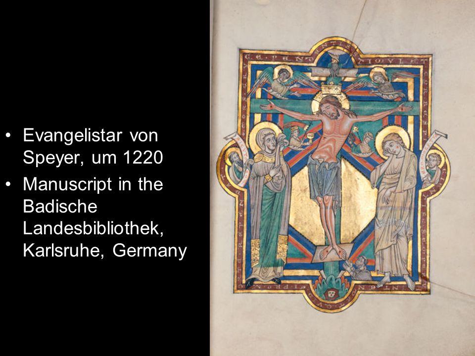 Evangelistar von Speyer, um 1220