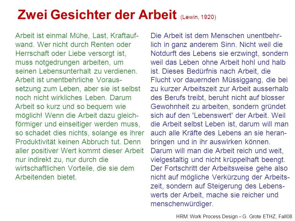 Zwei Gesichter der Arbeit (Lewin, 1920)