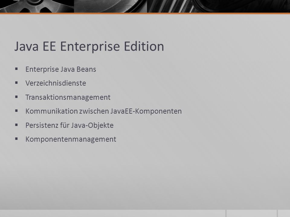 Java EE Enterprise Edition