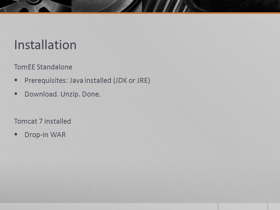 Installation TomEE Standalone