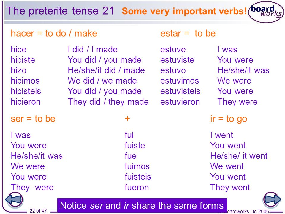 Some very important verbs!