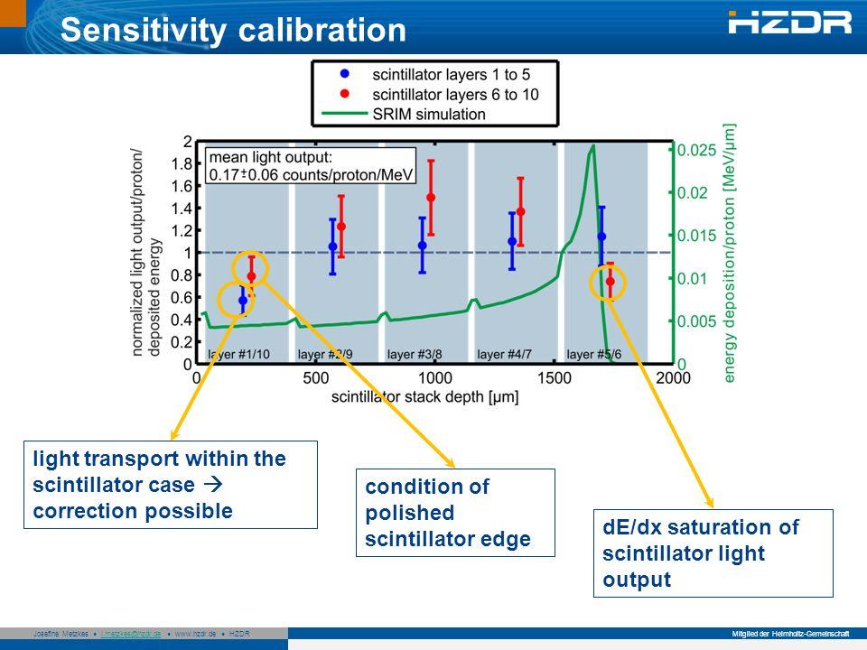 Sensitivity calibration