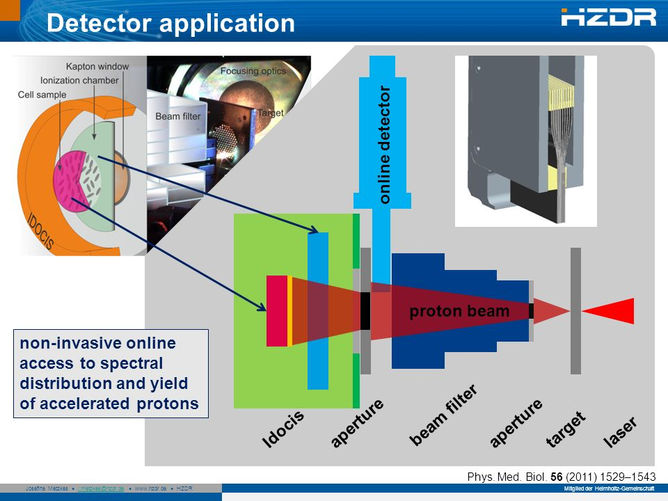 Detector application online detector proton beam