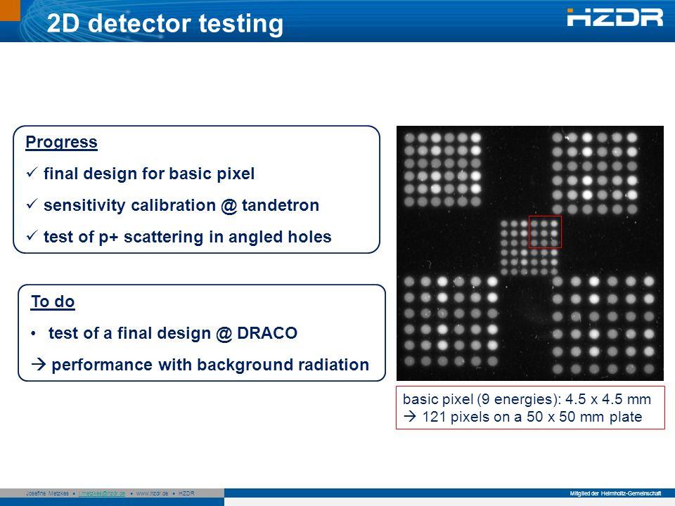 2D detector testing Progress final design for basic pixel
