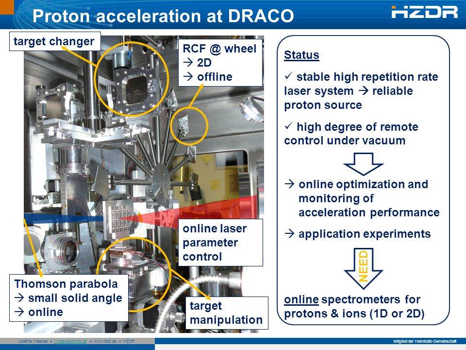 Proton acceleration at DRACO