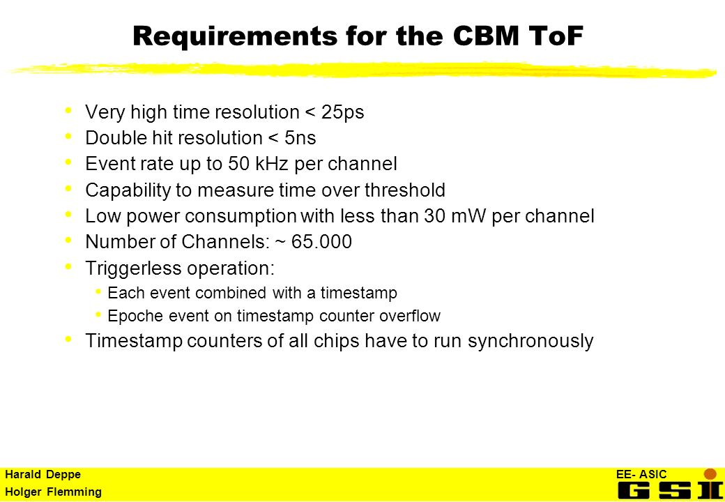 Requirements for the CBM ToF