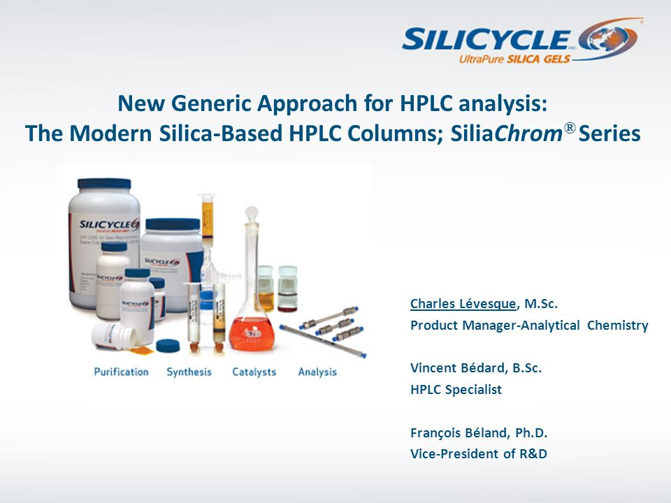 New Generic Approach for HPLC analysis: