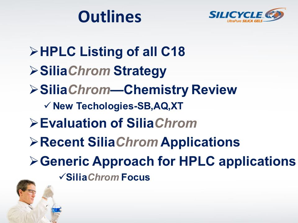 Outlines HPLC Listing of all C18 SiliaChrom Strategy