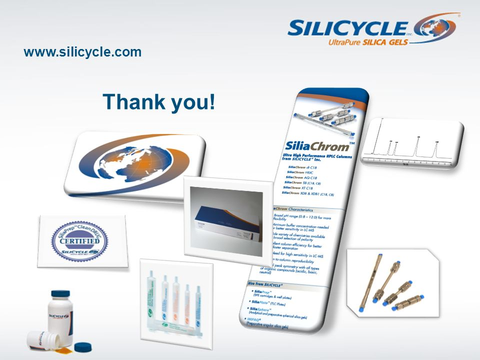 www.silicycle.com Thank you!