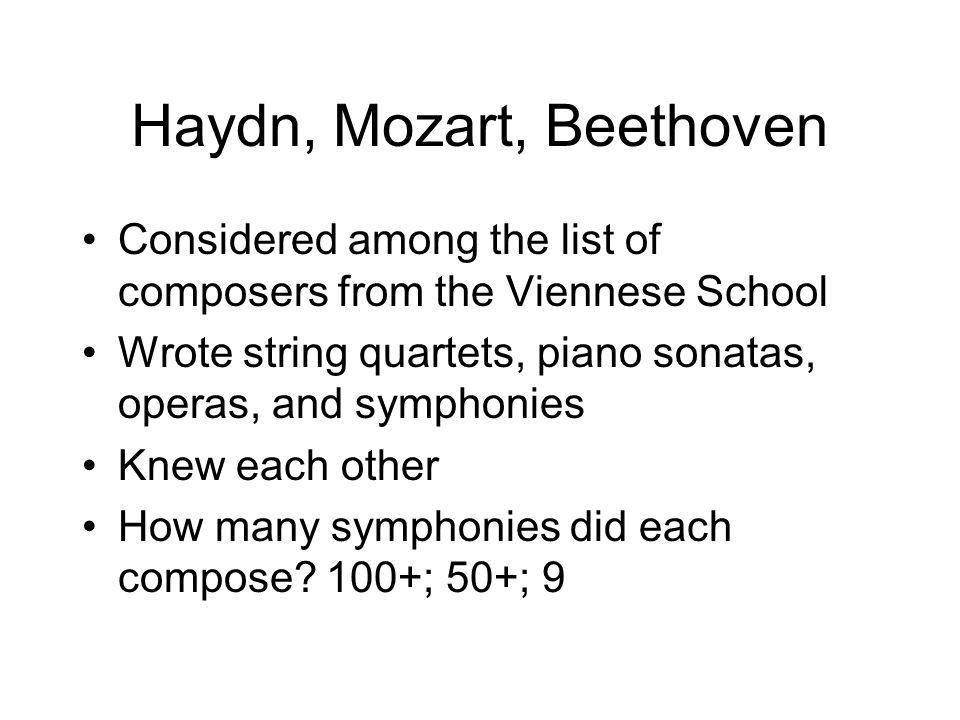 Haydn, Mozart, Beethoven