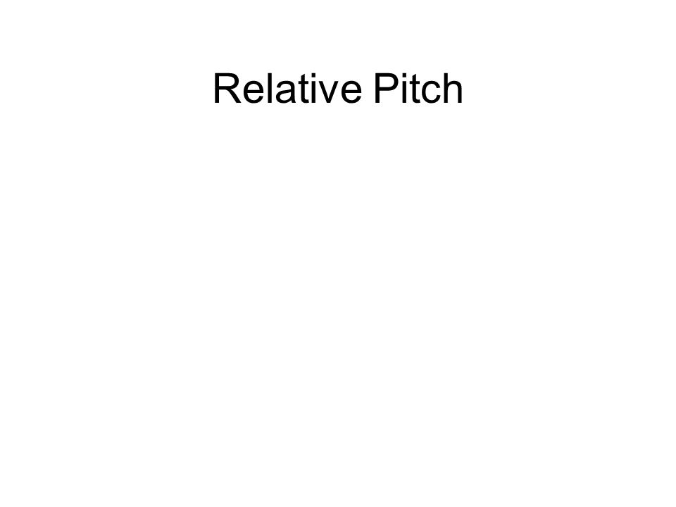 Relative Pitch
