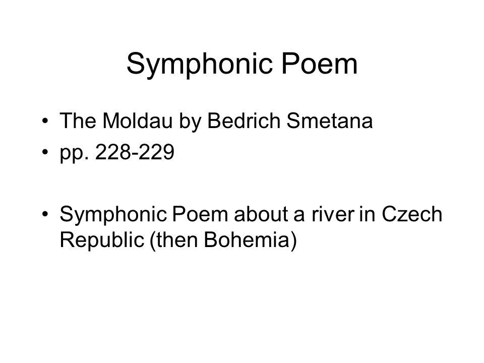 Symphonic Poem The Moldau by Bedrich Smetana pp. 228-229