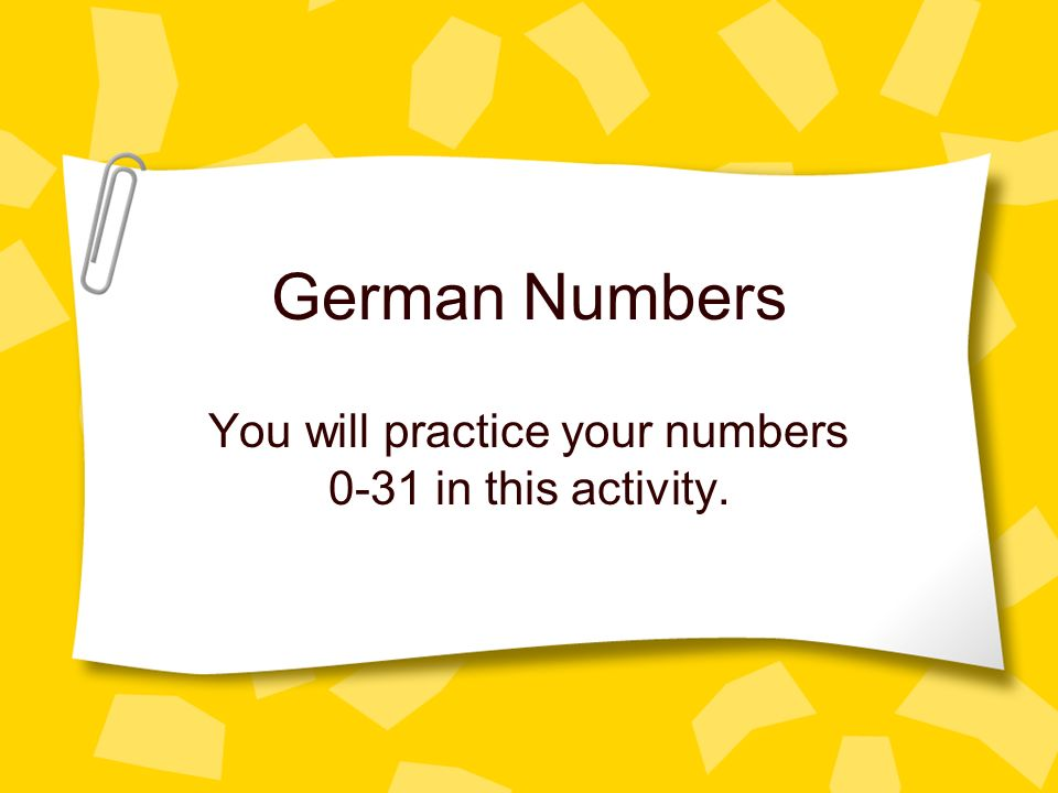 You will practice your numbers 0-31 in this activity.