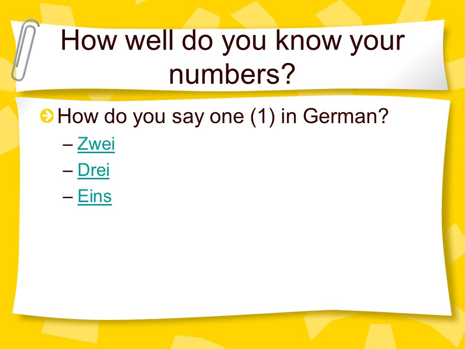 How well do you know your numbers