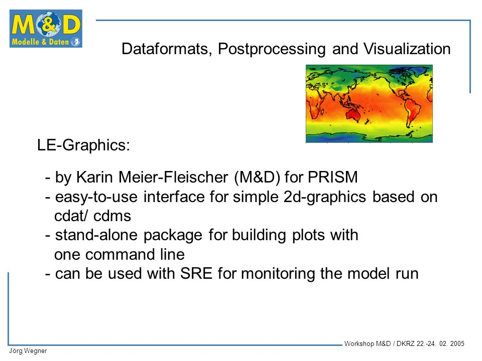 LE-Graphics: by Karin Meier-Fleischer (M&D) for PRISM. easy-to-use interface for simple 2d-graphics based on.