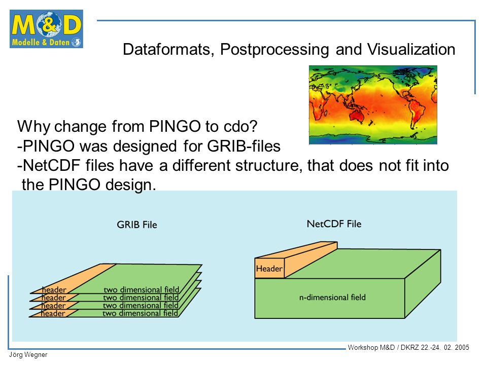 Why change from PINGO to cdo