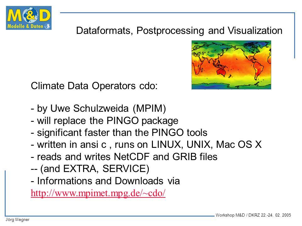 Climate Data Operators cdo: