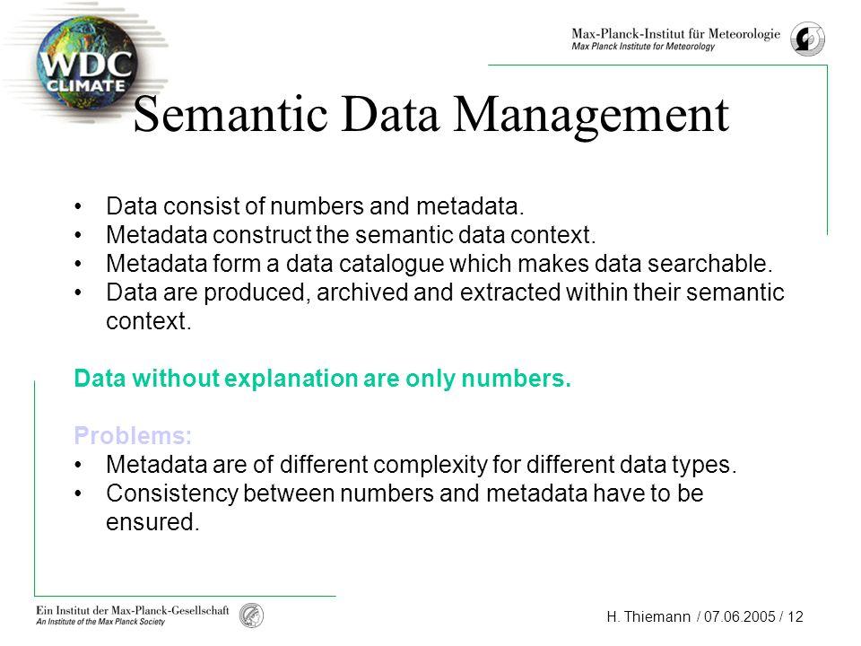 Semantic Data Management