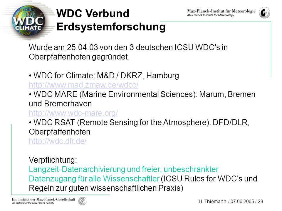 WDC Verbund Erdsystemforschung
