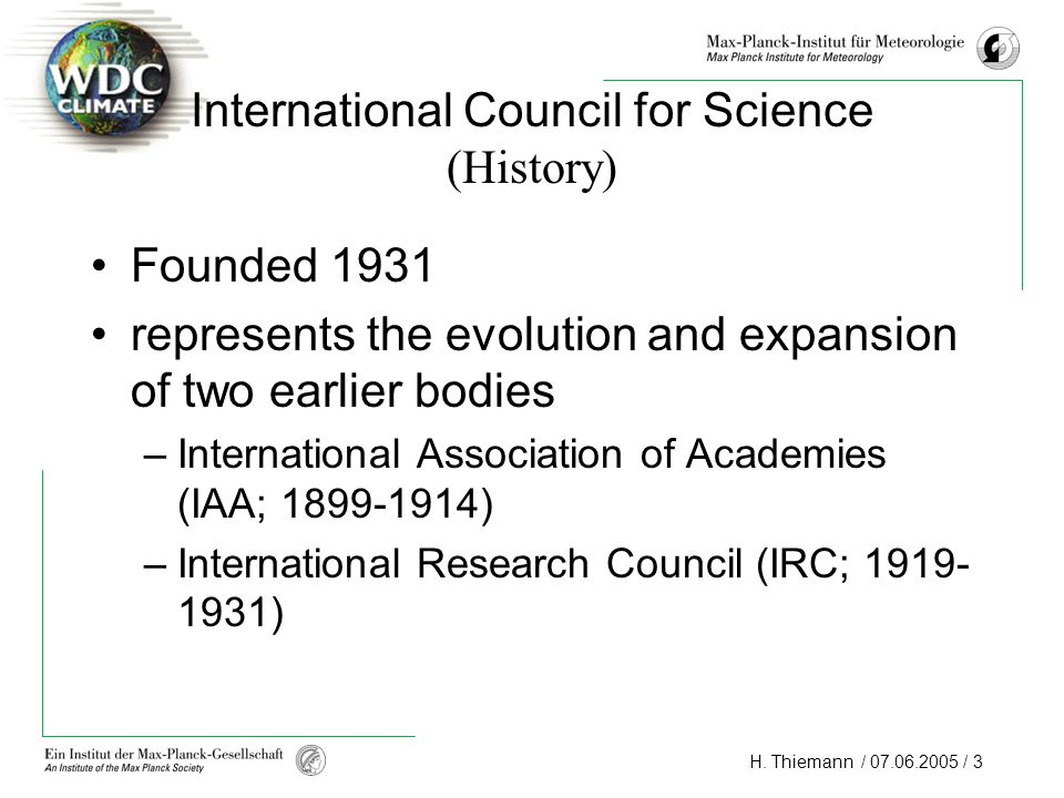 International Council for Science (History)
