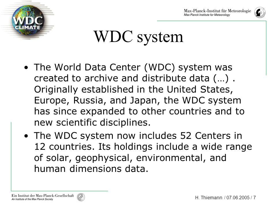 WDC system