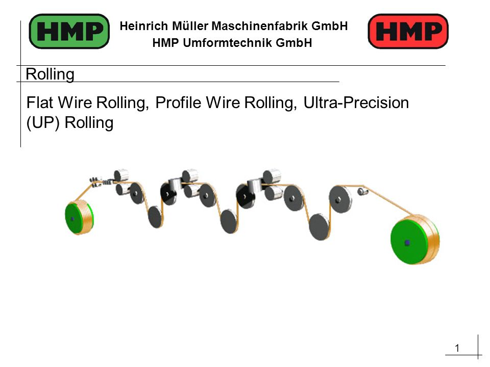 Rolling Flat Wire Rolling, Profile Wire Rolling, Ultra-Precision (UP) Rolling