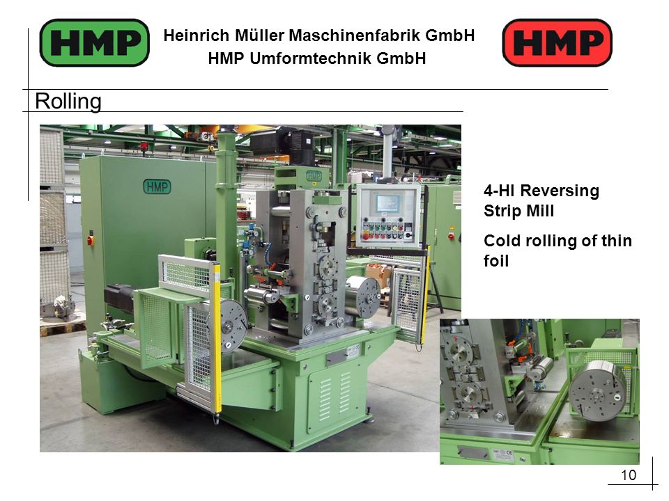 Rolling 4-HI Reversing Strip Mill Cold rolling of thin foil