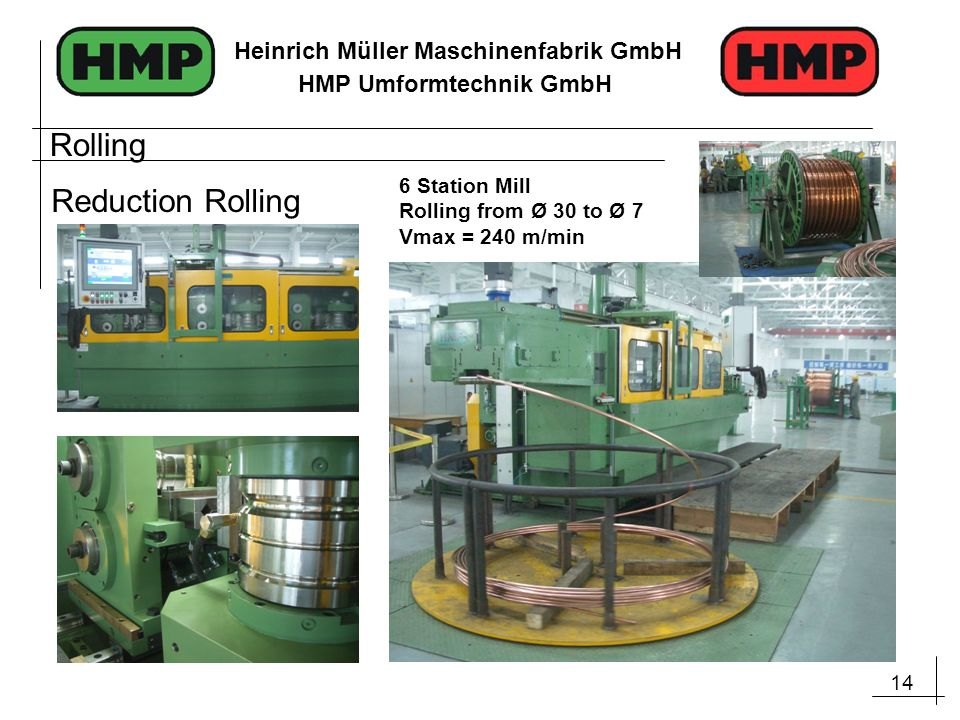 Rolling Reduction Rolling 6 Station Mill Rolling from Ø 30 to Ø 7