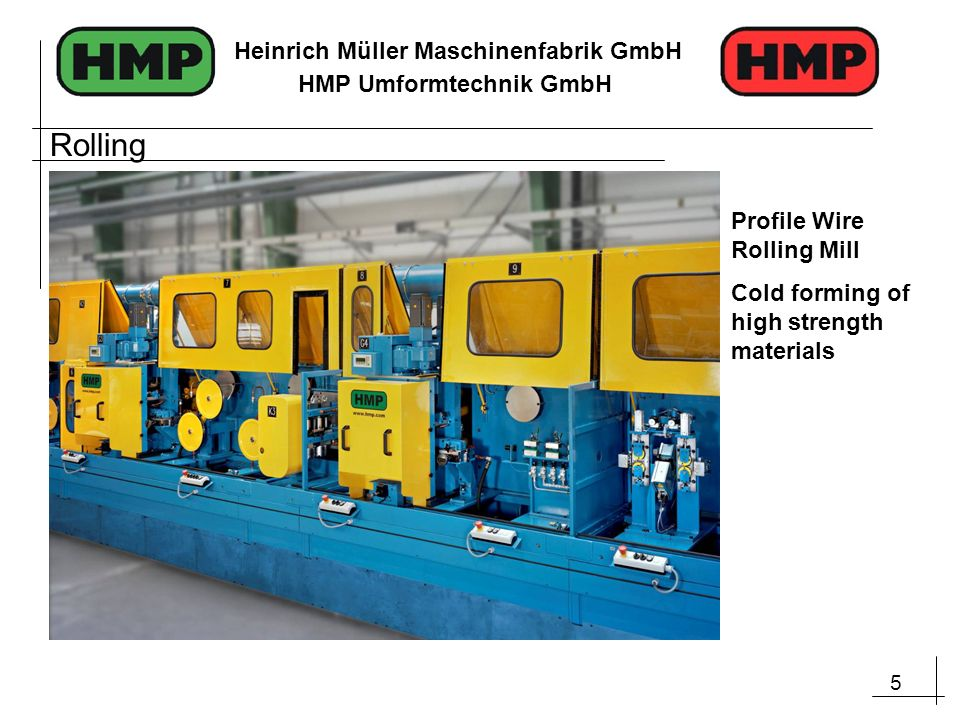 Rolling Profile Wire Rolling Mill