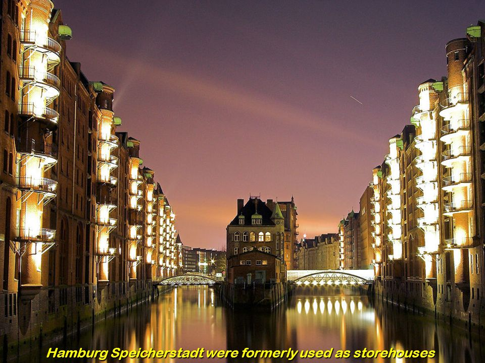 Hamburg Speicherstadt were formerly used as storehouses