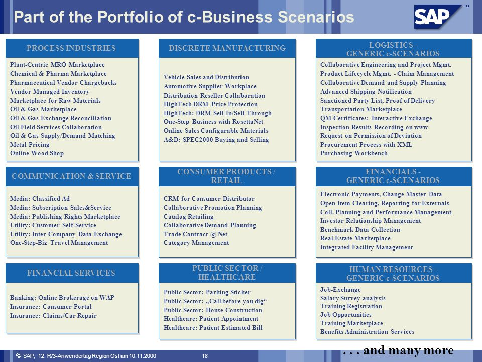 Part of the Portfolio of c-Business Scenarios