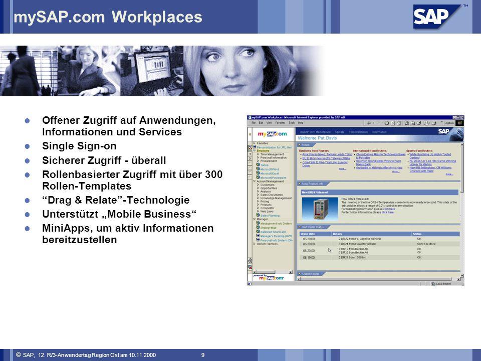 mySAP.com Workplaces Offener Zugriff auf Anwendungen, Informationen und Services. Single Sign-on. Sicherer Zugriff - überall.