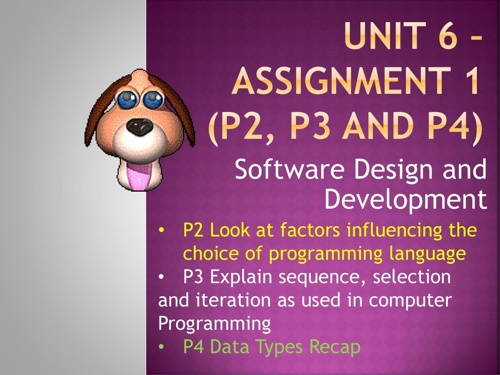 Unit 6 Assignment 1 P2 P3 And P4 Ppt Download