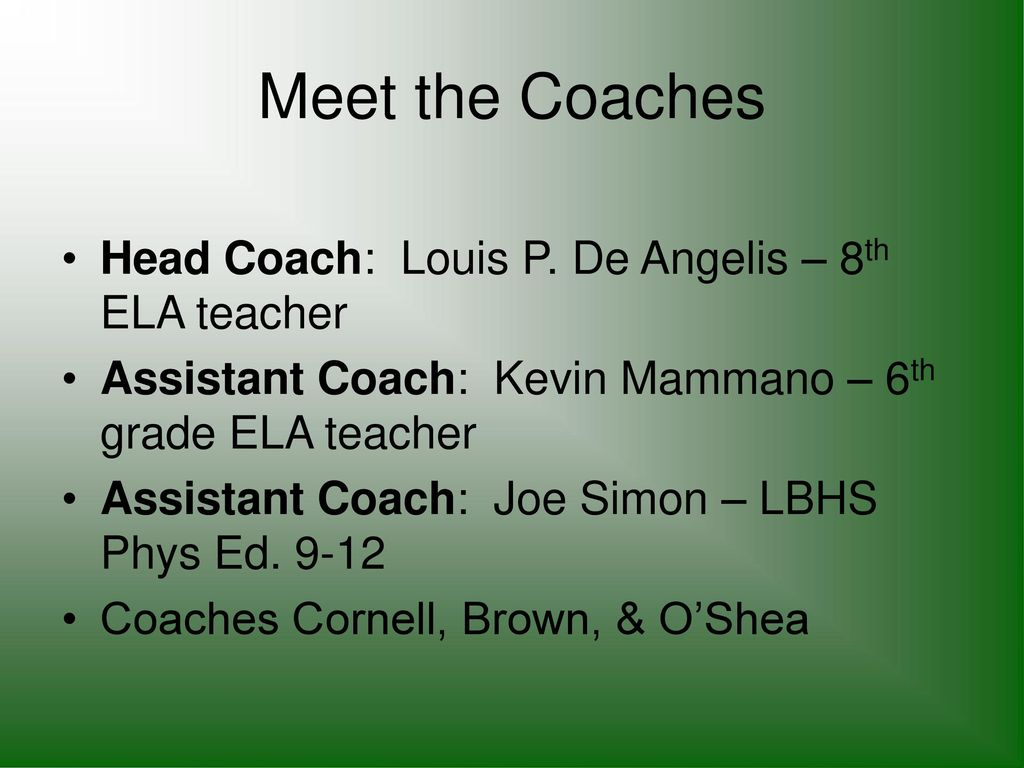 """Meet the Coaches Night"""" - ppt download"""