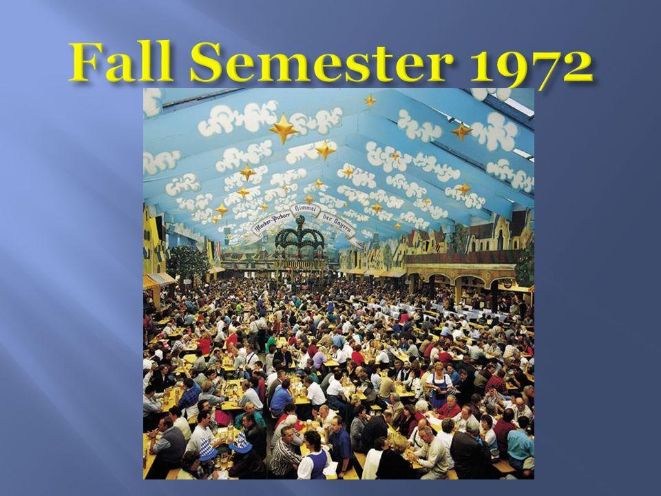 Fall Semester 1972