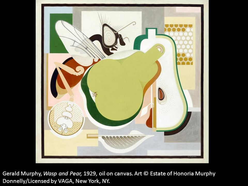 Gerald Murphy, Wasp and Pear, 1929, oil on canvas